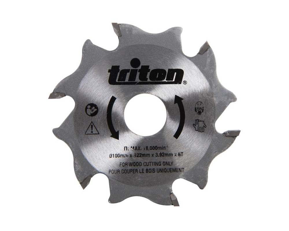 Fresa de 6 cortes de MD, original Triton