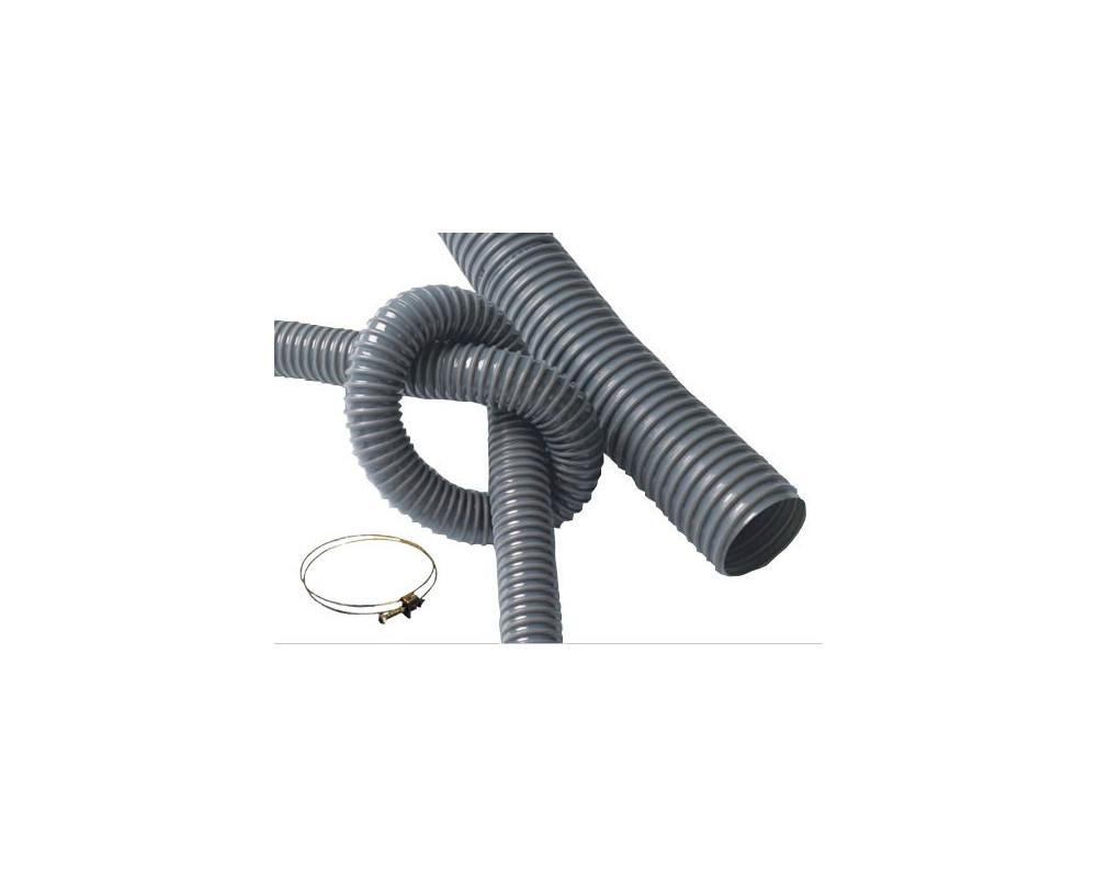 Tubo PVC 100 mm. de 2,5 m. + 2 abrazaderas