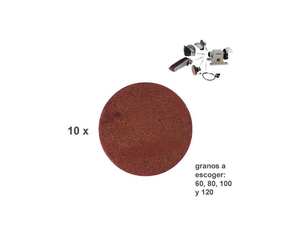 Pack 10 discos lija 150 mm